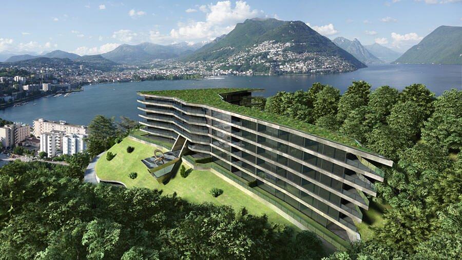 Элитные современные апартаменты для продажи в Лугано Швейцария Кантон Тичино